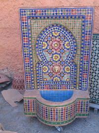 Fuentes mosaico marroqu con bomba de agua for Mosaico marroqui